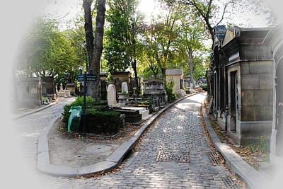 Pere Lachaise Cemetery Paris Art Print by Jacqueline M Lewis