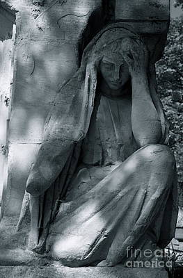 Photograph - Pere Lechaise Cemetery In Fall by Louise Fahy