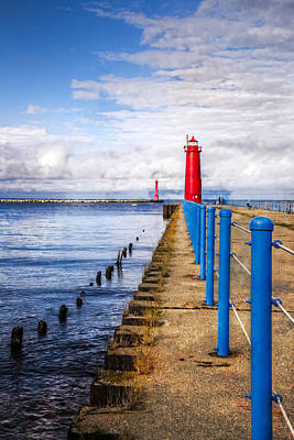 Muskegon Lighthouse Wall Art - Photograph - Pere Marquette by Debra and Dave Vanderlaan