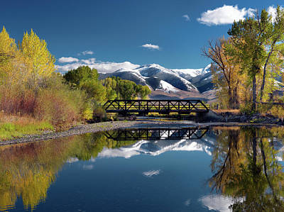 Lost River Mountains Photograph - Perfect Autumn Day by Leland D Howard