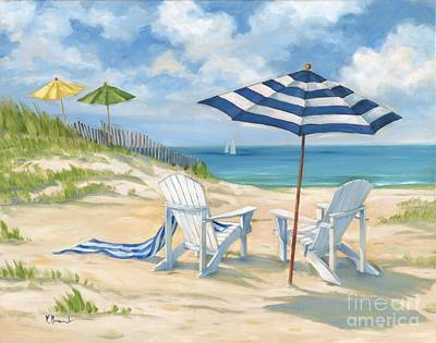 Adirondack Chair Painting   Perfect Beach Blue By Paul Brent
