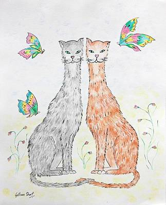 Moggy Painting - Perfect Harmony by Gillian Short