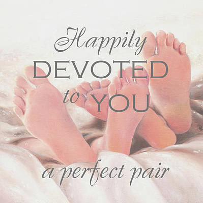 Inspirational Painting - Perfect Pair Happily Devoted by Vickie Wade