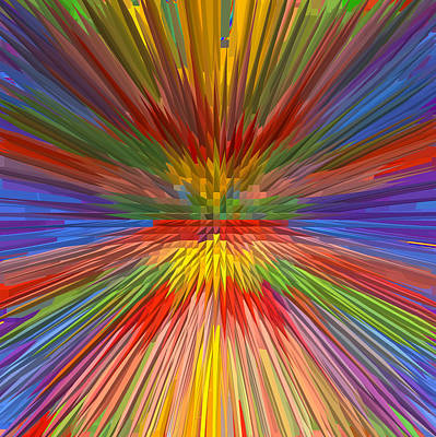 Independence Day Mixed Media - Perfect Rainbow Skyview Horizon Spectrum Sky View Graphic Extrude Art Background Designs  And Color  by Navin Joshi