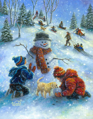 Perfect Snow Day Print by Vickie Wade