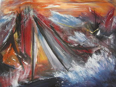 Painting - Perfect Storm by Roberta Rotunda