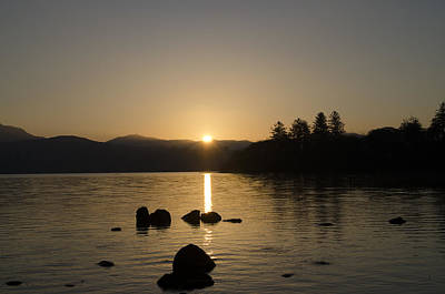 Irish Castle Photograph - Perfect Sunrise In Donegal Ireland - Lough Eske by Bill Cannon