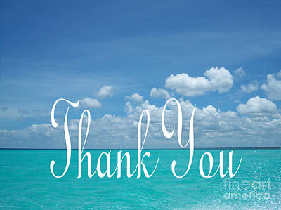 Photograph - Perfect Turquoise Thank You by Heather Kirk