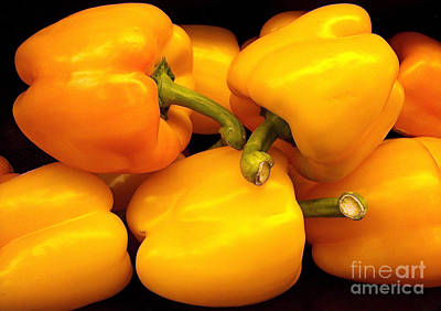 Photograph - Perfect Yellow Peppers by Kathy Baccari