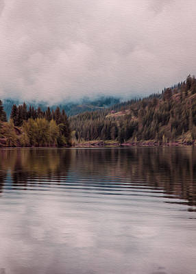 Perfectly Cloudy Lake Print by Omaste Witkowski