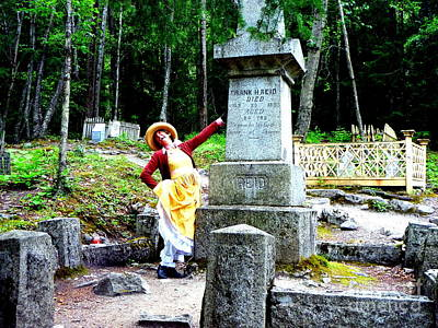 Photograph - Performance In Cemetery by John Potts