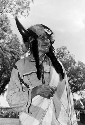 Photograph - Performer With Buffalo Horn by Joan Liffring-Zug Bourret