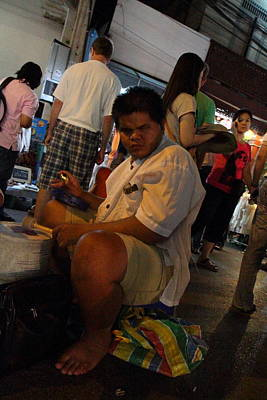 Performance Photograph - Performers - Night Street Market - Chiang Mai Thailand - 01131 by DC Photographer