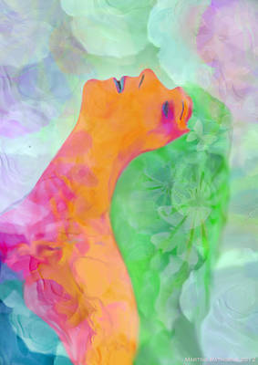 Art Print featuring the digital art Perfume Of Love by Martina  Rathgens
