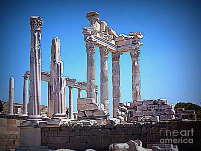 Photograph - Pergamom Ruins by Lou Ann Bagnall