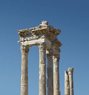 Hellenistic Photograph - Pergamon Temple Of Trajan by David Parker