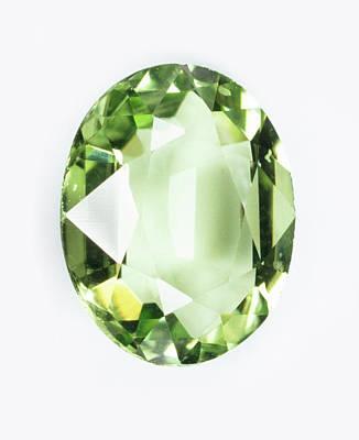 Peridot Photograph - Peridot Gemstone by Dorling Kindersley/uig