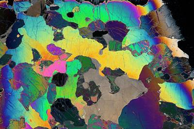 Thin Section Photograph - Peridotite by Dirk Wiersma/science Photo Library