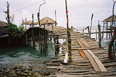 Rickety Bridge Photograph - Peril In Paradise by Christine Rivers