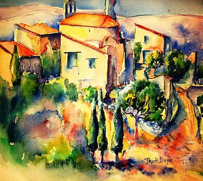 Perillos Abandoned French Village    Art Print by Trudi Doyle