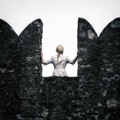 Battlements Photograph - Period Lady by Joana Kruse
