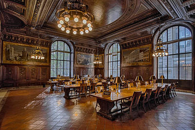 New York City Photograph - Periodical Room At The New York Public Library by Susan Candelario