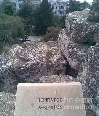 Photograph - Peripatos Monument On Acropolis by Katerina Kostaki