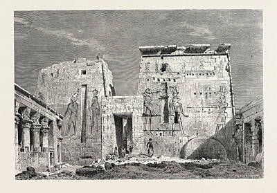 Peristyle In The Temple Of Isis On The Islan Of Philae Art Print
