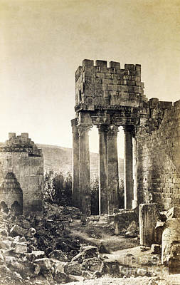 Bacchus Photograph - Peristyle, Temple Of Bacchus, Baalbek by Getty Research Institute