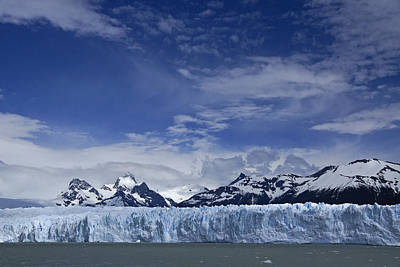 Photograph - Perito Moreno Glacier And The Andes by Michele Burgess