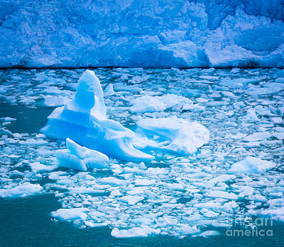 Photograph - Perito Moreno Iceberg by Inge Johnsson