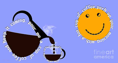 Digital Art - Perk Up With A Cup Of Coffee 11 by Andee Design