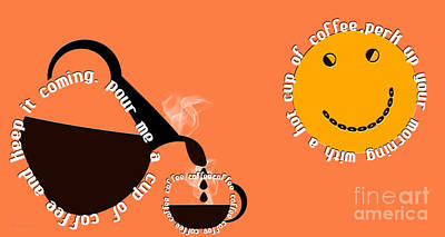 Digital Art - Perk Up With A Cup Of Coffee 14 by Andee Design