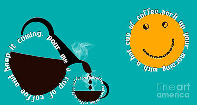 Digital Art - Perk Up With A Cup Of Coffee 4 by Andee Design
