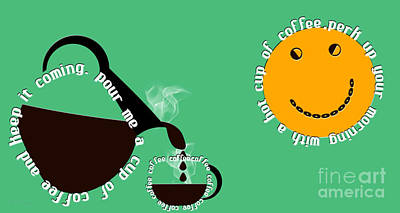 Digital Art - Perk Up With A Cup Of Coffee 5 by Andee Design
