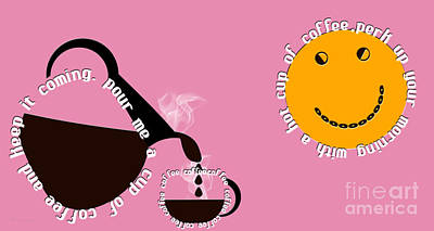 Digital Art - Perk Up With A Cup Of Coffee 6 by Andee Design