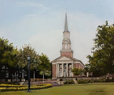 Seminary Painting - Perkins Chapel At Smu by Wade Powell