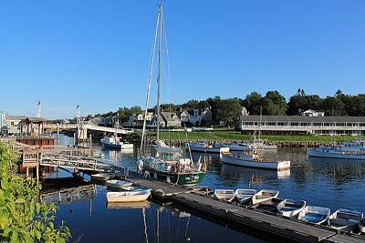 Heading Out Photograph - Perkins Cove Ogunquit Maine 2 by Michael Saunders