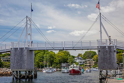 Photograph - Perkins Cove Footbridge by Susan Cole Kelly