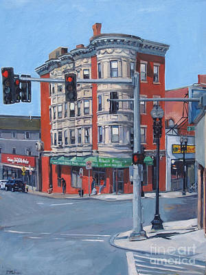 Intersection Painting - Perkin's Square by Deb Putnam