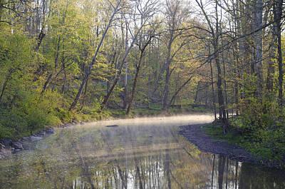 Perkiomen Creek In Spring Art Print by Bill Cannon