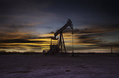 Permian Basin Gold Art Print