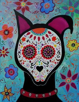 Skulls Painting - Perro by Pristine Cartera Turkus