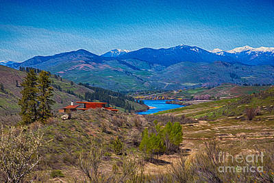 Painting - Perrygin Lake In The Methow Valley Landscape Art by Omaste Witkowski