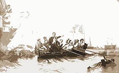 Lake Erie Drawing - Perrys Victory, Lake Erie by Litz Collection