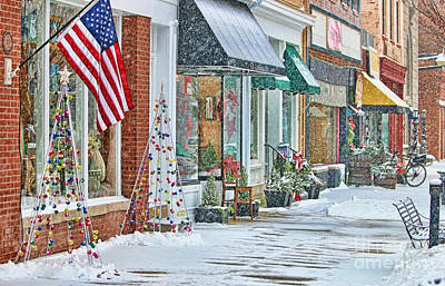 Squall Photograph - Perrysburg In Snow by Jack Schultz