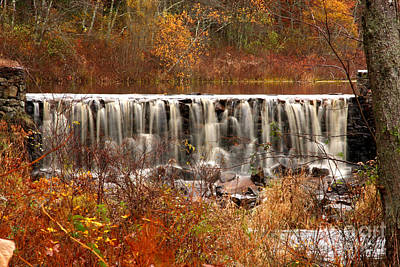 Perryville Dam Rehoboth Ma Art Print by Butch Lombardi