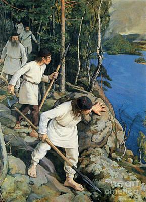 Pekka Wall Art - Painting - Persecution Kind Of Answer by Pekka Halonen