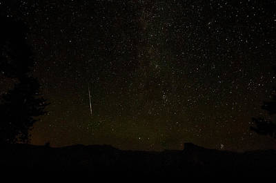 Photograph - Perseid 2014 Washburn Point Yosemite by Connie Cooper-Edwards