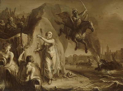 Perseus And Andromeda. Allegory Of The Liberation Art Print by Litz Collection